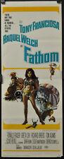 FATHOM 1967 ORIG 14X36 MOVIE POSTER TONY FRANCIOSA RAQUEL WELCH RONALD FRASER