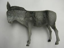 Vintage Antique Germany Christmas Nativity Putz Composition Stick Leg Donkey