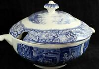 Staffordshire LIBERTY BLUE Tureen with Lid  A+ CONDITION