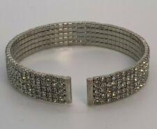 NWT INC International Concepts Pave Multi Crystal Flex Bracelet Cuff