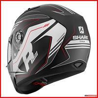 Shark Casco Moto Integrale Ridill Tika Mat KAW Nero Bianco rosso Silenzionso