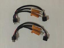 2X H4/HB2/9003 Hi/Lo LED Decoder/Load Resistor Warning Canceller, No Flickers