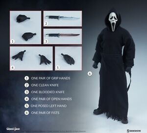 Sideshow 1/6 Terror Series Scream Ghost Face Action Figure 100447 Toy Gift