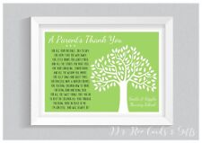 A4 Personalised Print: Thank You Poem Teacher Childminder Nursery Leaving Gift