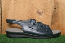 SAS 'Trio' Blue Leather 3 Strap  Slingback Comfort Sandals Sz. 10N