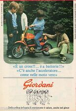 Pubblicità Advertising 1980 GIORDANI Cross a batterie
