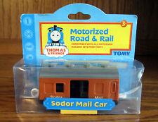 Thomas & Friends Thomas Train Motorized Road & Rail SODOR MAIL CAR - Tomy - NEW4