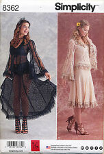 SIMPLICITY SEWING PATTERN 8362 MISSES 14-22 TWO-PIECE LACE DRESS WEDDING COSTUME