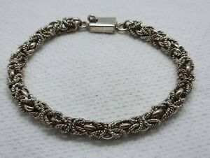 Vintage Sterling Silver Byzantine Link Bracelet Taxco, Mexico