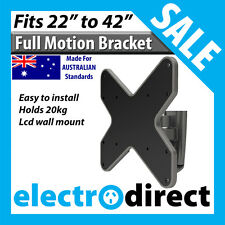 """LCD LED FULL MOTION TV PLASMA WALL MOUNT BRACKET TELEVISION FITS 23""""-42"""" INCH TV"""