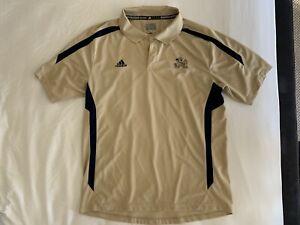 Adidas Notre Dame Polo Mens Large (L) Gold Navy Blue Leprechaun ND
