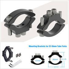 2X CNC Motorcycle 22-36mm Tube Fork Headlight Mount Bracket Light Holder Clamps