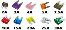 10 x Assorted Mini Blade Fuses (11mm x 15mm) o/e spec for Motorcycle