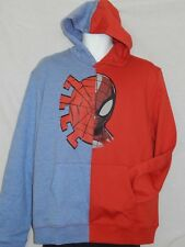 NEW Spiderman Mask Figure Hoodie Marvel Comic Book Movie Men's Jacket Coat Large