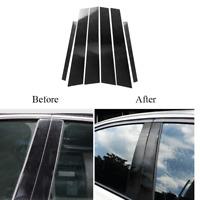 For BMW 3 Series E46 1999-2004 Carbon Fiber Outer Door Pillar Cover Trim Sticker