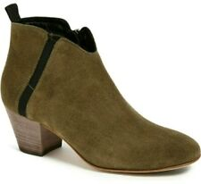 Aquatalia Womens Green Suede Zip Famous Ankle Booties. Size 8.5