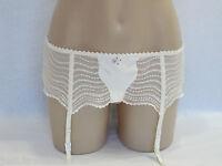 Pleasure State White Label Ladies Echo Suspender Belt size Large Colour Ecru