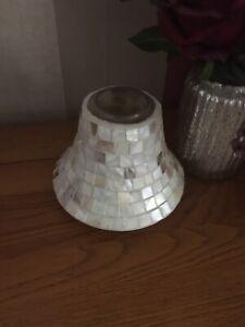 Fab Yankee Candle Large Cream Mosaic Jar Topper Lantern Lid