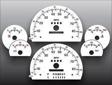 1994 Chevrolet S10 S15 Dash Instrument Cluster White Face Gauges