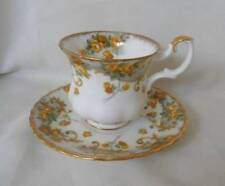Vintage Royal Albert Marjorie Cup & Saucer Yellow Roses Sheraton Series