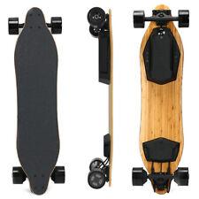 US 600W Dual Motors 38'' Electric Skateboard 24MPH Longboard 24Mile Range+Remote
