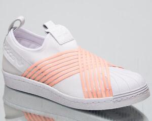 adidas Originals Women's Superstar Slip On New Lifestyle Shoes 2018 White D96704