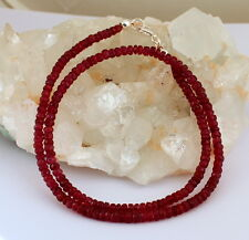 NATURAL ruby necklace Precious Stone Faceted Ruby necklace Ruby Red AA Quality