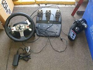 Logitech G25 Racing Wheel + Pedals + Gear Stick