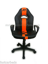 KIDS CHILDRENS STUDY OFFICE CHAIR MOTORSPORT RACE THEME - GT RACER Fast Car Beds