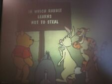 In Which Rabbit Learns Not To Steal Disney filmstrip/ tape With Pooh story