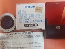 CHINAR auto tele-converter lens 2x4  fits Minolta-MD
