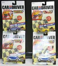 2000 ROAD CHAMPS CAR AND DRIVER SHOCK RACERS 4 ASSORTED CARS 1:64 NEW