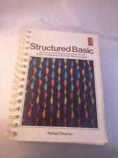 BBC Micro Structured Basic Book In VGC BBC NEC Richard Freeman 1984