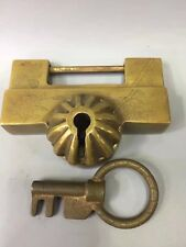 Chinese Antique Brass hand forged lock aa290