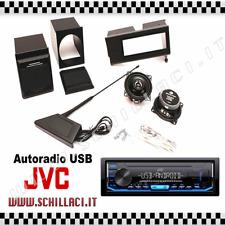 Panda Music KIT NERO casse supporti porta autoradio e antenna + JVC KD-x151 USB