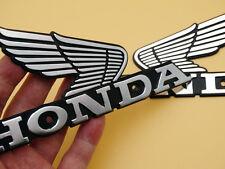 L/R Oil Tank Badges Emblems for Honda Nighthawk Wing CG125 CL100 CB100/200/125S