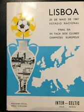 More details for 1967 european cup final celtic v inter milan. very good condition. original.