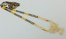 "Indian Wedding Jewelry Gold en Ethnic Mangalsutra Chain cz Pendant 28""Lg #10"