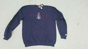 Vintage NFL Tennessee Oilers Starter Sweatshirt New With Tags XL Navy