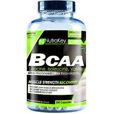 NUTRAKEY BCAA 1500 200 CAPSULES - AMINO ACIDS - LEUCINE, ISOLEUCINE, VALINE