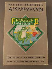 Frogger II Threedeep Commodore 64 Complete in Box. Cartridge Game Sega  UNTESTED