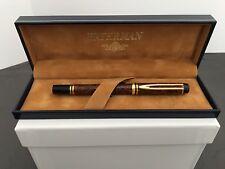 Waterman Leman Marble Brown Fountain Pen 18k Nib & 23 Ink Cartridges