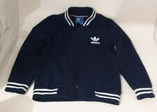 Adidas Boys Jacket/tracksuit In Navy Blue (Retro style) Colour Size 9  Pre-owned