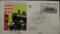 MONACO Stamp 1° Jour FDC n° 754 Liaison Nice-Monaco 1968