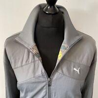 Puma Vintage Grey & Yellow Trackie Track Tracksuit Zip Top Unisex Jacket M-L
