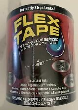 Flex Tape 4 Inches X 5 Feet Black Rubberized Waterproof Tape