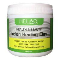 MELAO Indian Heilung Bentonit Detox Clay, 100% natuerliches Pulver, Gesicht L6U1