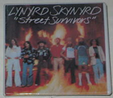 "Lynyrd Skynyrd ""Street Survivors"" Album Pin 2"" x 2"" - with Flame"