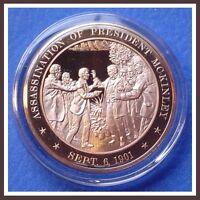 1901 PRESIDENT McKINLEY ASSASSINATION Franklin SOLID BRONZE Medal Uncirculated