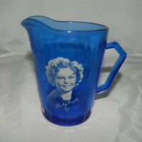 VTG Mid Century Hazel Atlas Cobalt Blue Shirley Temple Milk Creamer Pitcher